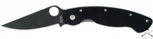 Нож Spyderco Military, G-10, черный клинок