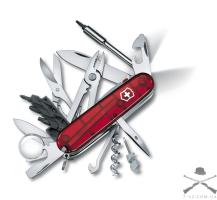 Складной нож Victorinox CyberTool Lite полупрозрачный красный | 1.7925.T