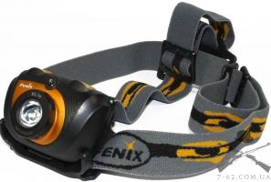 Фонарь Fenix HL30 черно-желтый (200 лм, 2хАА)