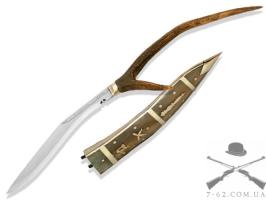Нож 10 Dhankute Transparent White Horn Кукри