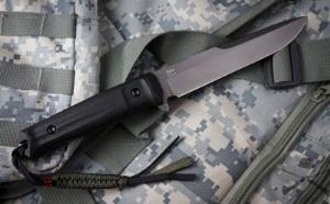 Нож туристический Alpha серый титан D2, Kizlyar Supreme