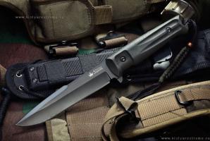 Нож туристический Delta Черный D2, Kizlyar Supreme