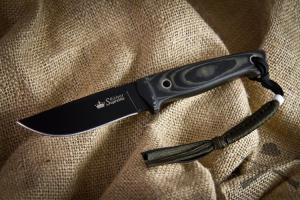 Нож туристический Nikki Черный D2, Kizlyar Supreme