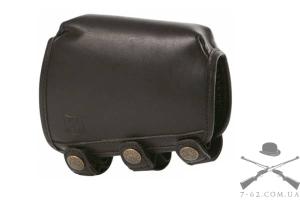 Чехол для приклада Riserva S гребень 1.5 см, цвет черный, материал - кожа