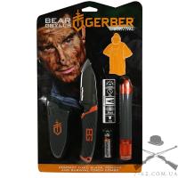 Фонарь + Нож + Пончо Gerber Bear Grylls