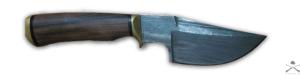 Нож разделочный из дамасской стали ручной работы (б/у)