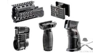 Набор тактический CAA базовый для АК-47: цевье с Pikatinny, крепление для фонаря, спарка магазинов, тактическая и пистолетная рукоятки