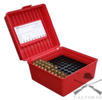 Кейс MTM R-100-MAGNUM для патронов 300WM, красный, рассчитан на 100 штук