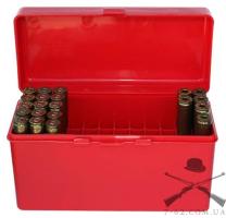 Кейс MTM RM-60 для патронов калибров 308 Win, 30-06 красный, на 60 штук