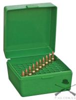 Кейс MTM RM-100 для патронов калибра 243 и 308win, зеленый, на 100 штук