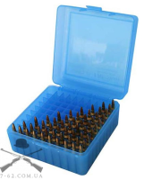 Кейс MTM R-100 для патронов калибра 223Rem, цвет голубой, на 100 штук