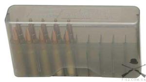 Кейс MTM J-20-M для патронов калибров 308 Win; 30-06, дымчатый, на 20 штук