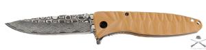 Нож Ganzo G620y-2, желтый клинок с травлением