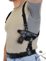 Кобура кожаная формованная плечевая/поясная со скобой с синтетическим креплением