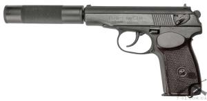 Пистолет Флобера СЕМ ПМФ-1М, с удлинителем, 4мм