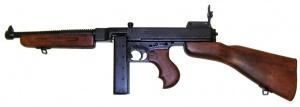 Макет Пистолет-пулемет Thompson M1A1 1928 год США  рожковый магазин | 1093