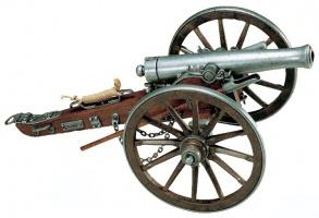 Макет Пушка времен гражданской войны, 1861 год США | 402