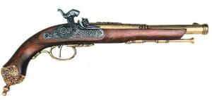 Макет Пистолет кремниевый  Бресция, 1825 год Италия    1013L