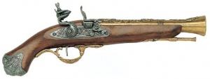 Макет Пистолет кремниевый, XVIII век Лондон  |1219L