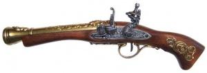 Макет Пистолет кремниевый для левши, Австрия XVIII век | 1130L