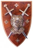 Панно: Кираса, мини-меч Экскалибур и мини-меч Карла Великого | 508