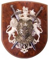 Панно: Кираса, мини-меч Ричарда Львиное Сердце и мини-меч Тизона Д`Сида | 518