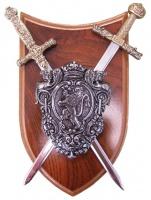 Панно: Кираса, мини-шпага Наполеона и мини-меч Карла Великого | 505