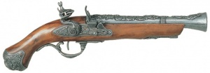 Макет Пистолет кремниевый, XVIII век Лондон  |1219G